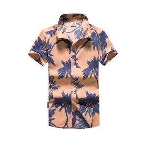 Мужские повседневные рубашки 2021 летняя мужская рубашка, продажа с коротким рукавом мода кардиган гавайский стиль печатных пляжных мужчин