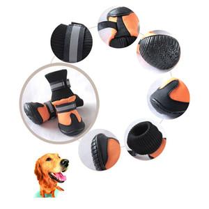 Haustier Hund Schuhe für Sportberg tragbar für Haustiere PVC-Sohlen wasserdichte reflektierende Hundestiefel perfekt für BBYYV