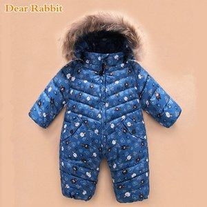 -30 Russian NEW Winter Snowsuit 2020 Boy coat Baby Girl Clothes 90% Duck Down Jacket Outdoor Infant Kids velvet Jumpsuit 0-4 Yrs