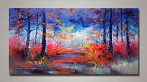 Large Modern abstract Scenery Framed & Unframed Large Home Decor Handpainted &HD Print Oil painting On Canvas Wall Art Canvas Pictures-R013