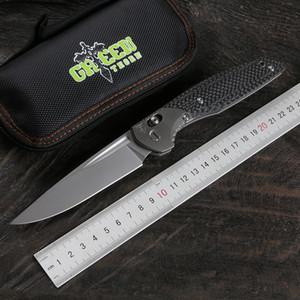 Grüner Dorn 110B M390 Blade Carbon Faser + TC4 Titan Griff Praktische Falten im Freien Camping Obstmesser EDC-Werkzeug