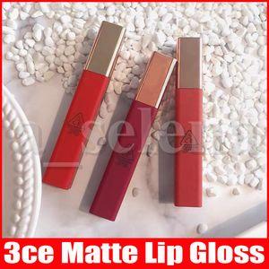 3CE Matte Liquid Lipstick Long Lasting Waterproof Soft Lip Lacquer Tint Matte Nude Lip Gloss Lipgloss 6 Colors