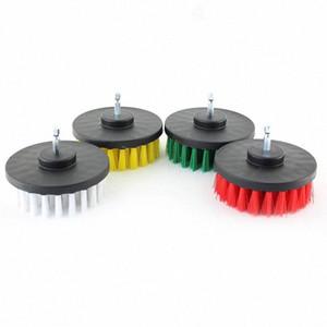 4in de 4 piezas Bajo, Medio y rígido Adjunto Taladro eléctrico Cepillo de limpieza para duchas, tinas, baños, azulejos, baldosas, lechada, Ca ZquS #