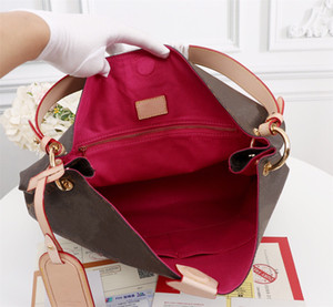 Designers gracioso MM PM Hobo em lona revestida clássica extra-roody luz de couro genuíno supple plana saco de ombro luxurys