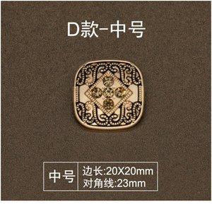 6pcs Vintage Golden Metal Diamond Decorative Button For Clothing Diy Craft Needlework Sewing Accessories Haberdashery On jllPJc
