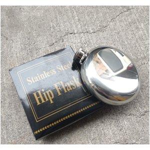 5Oz Stainless Steel Hip Flask Portable Outdoor Flagon Whisky Stoup Wine Pot Alcohol Bottles Mini Round Men Pocket Hip Flasks Dbc O1Rc0