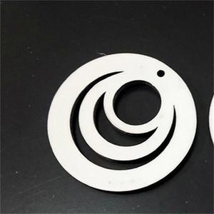 Circle Hollowing Out Ear Pendant Pendente a due lati Sublimazione Blank Blank Orecchini per borchie di legno Moda Gioielli Gioielli Orecchino Vendita calda 2020 2 25bd f2