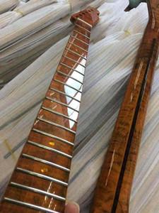 1 шт. Tiger Flame Maple Electric Гитара шеи 21 Фрета Электрическая гитарная часть