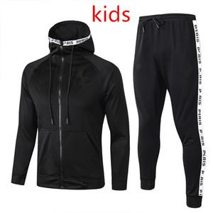 Crianças agasalho 2020 2021 PSG aj Jordan frances do hoodie survêtement 20/21 terno treinamento Mbappé jaquetas de futebol Pogba treino
