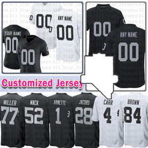 Futebol Homens Juventude Mulheres Personalizado Jersey 12 Charles Woodson Marcus Allen Hunter RenFrow Richie Incognito Devonae Booker Hudson DJ Killings