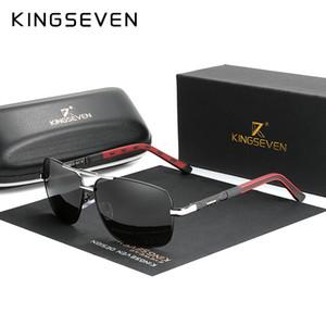 KINGSEVEN 2020 Aluminio Marca piloto de gafas de sol polarizadas marco Hombres Mujeres Moda Hombre Gafas de sol para conducir Gafas de sol de LJ201029
