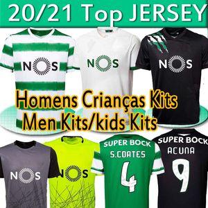 20 21 Sporting CP Lisbon Soccer Jerseys 2020 2021 Lisboa Camisas RONALDO PEDRO G. PHELLYPE S.COATES B.FERNANDES Men+kids kits football shirt