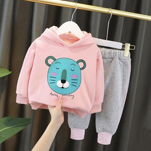 Designers clothes kids children clothing Princess Plush two piece set 0-4 year old girl baby autumn and winter Korean style thickening suit