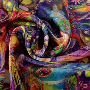 [Bysifa] Новый роскошный чистый шелковый шарф шаль женщин весна осень длинные шарфы женские бренд 100% шелковый шейный шарф Follard 175 * LJ201031
