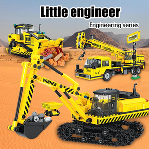 Erbo City Car Building Engineering camion Blocs Technics Construction Bulldozer Grue Grue Bricks Creator jouets pour les enfants yxlYWE xhlove