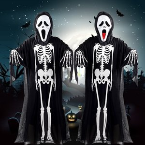 Skeleton Skeleton Ghost Clothes Halloween Decoration Masquerade Costume Halloween Costume Clothes Adult Children Horror Mask Free Shipping