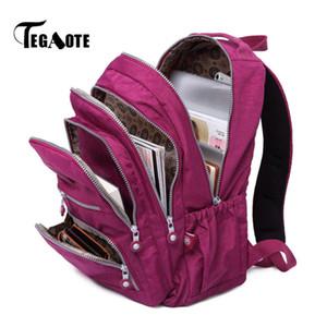 Tegaote Kadınlar Sırt Çantası Okul Çantası Genç Kızlar Için Naylon Casual Dizüstü Bagpack Seyahat Bolsa Mochila Geri Paketi Kid 2020 Marka