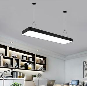 Tel Lambalar Studio Kare Modern led tavan ışıkları Asma 110V 220V LED Ofisi Droplight Gymnasium Strip aydınlatma Büro avize