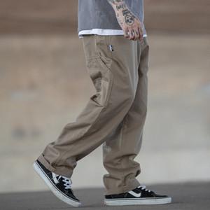 Multi-pocket Cargo Pants Men Streetwear Loose Straight Casual Baggy Pant Mens Wide Leg Canvas Trousers Work Trouser