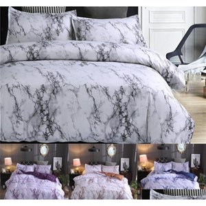 marble pattern bedding sets polyester bedding cover set 2 3pcs twin double queen quilt cover bed linen (no sheet no filling) gCIxO