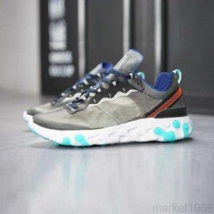 2019 React Element 87 55 running shoes for men women white black Royal Tint Desert Sand Designer breathable sports sneaker size 36-45 JUU5G