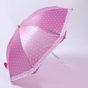 야다 휴대용 헤드 우산 모자 낚시 모자 도트 레이스 우산 스포츠 총액 여자 아기가 태어난 인형 수제 야외 우산 Yd153 bbyOzQ