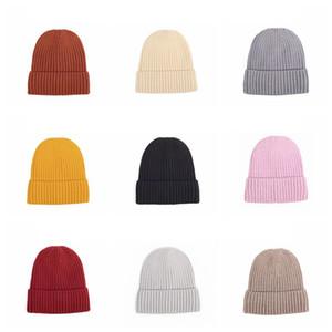 Gestrickte Wollmütze Winter-warmer Hut Mit Tide und Velvet starke warme Mütze Fest Farbe Männer und Baotou Cap Party-Hüte Frauen Supplies RRA3716