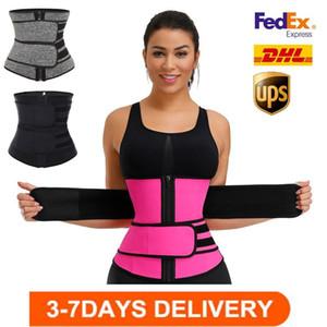 Logo nos Stock Personalizado Homens Mulheres Shapers cintura instrutor Belt Corset Belly Slimming Shapewear Suporte cintura ajustável Corpo Shapers FY8084