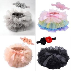 Tutus para bebês 10 cores recém-nascido bebê cor sólida tutu skrits com flor headband festa infantil vestido de aniversário boutiques 269 K2