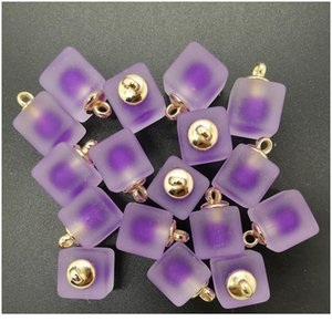 New Diy 8pcs 16mm Mini Acrylic Frosted Square Beads Charm Pendant Ornaments Jewelry Making bbyoFG