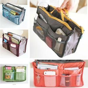 Portable Women Ladies Outdoor Travel Cosmestic Insert Handbag Purse Liner Organizer Bags Make Up Storage Tidy Bag