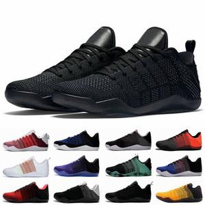 Black Mamba 11 Elite Baixa FTB Homens tênis de basquete Bruce Lee BHM Red Horse 11s 4KB Sports Designer Sneakers Com Box Tamanho 7-12Fa
