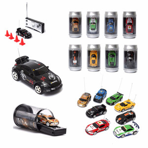 Hot Sale 8 Colors Coke Can Mini RC Car Vehicle Radio Remote Control Micro Racing Car 4 Frequencies For Kids Presents Gifts 201201