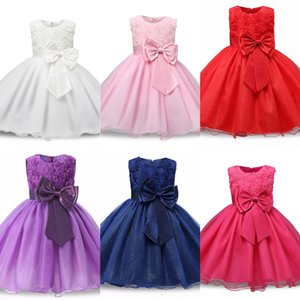 Erlg Girls Pudcoco Pudcoco Fashion Summer Summer Toddler Baby Abbigliamento Ragazze Carino Abiti Cotton Bow Tie Kids Baby 2019 Abito vestito
