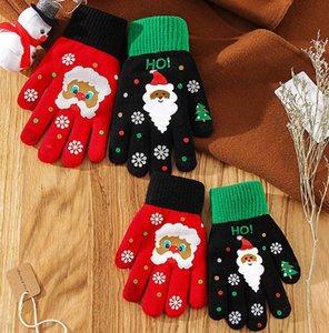 Noel Tam Parmak Dokunmatik Ekran Kar tanesi Örme Sıcak Eldiven Kadınlar Moda Kar tanesi çocuklar yetişkin Parmak eldiven KKA8132