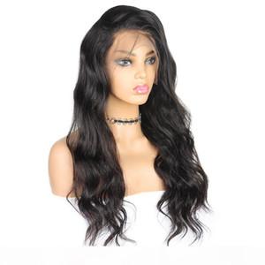 Capelli indiani Brasiliani Pre-pizzico Body Wave Full Pizzo Parrucche per capelli umani Peruviano Parrucche anteriori del pizzo dei capelli umani Peruviano Parrucche anteriore non remy 360 parrucche frontali in pizzo
