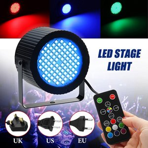 LED Stage Light Laser Projector Lamp Mini Stage Lighting Effect 20W 88 LED RGB Sound Control Dimmable for DJ Disco Bar AC85-265V