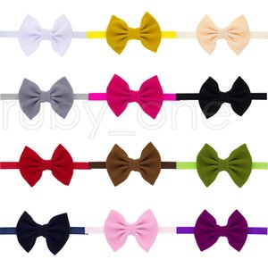 Lovely Baby Bows Headbands Bowknot Hair Wraps Butterfly Knot Hairbows Hoops For Newborn Toddlers Girls Headdress Party Favor Supply RRA3722