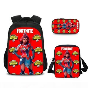 Fortress night combination bag primary and computer secondary school student backpack computer backpack Fortnite goods
