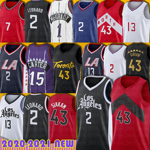 Vince 15 Carter Kawhi 2 Pascal Leonard 43 Siakam Jerseys Tracy Camby McGrady Fred Kyle Vanvleet Lowry Paul 13 George Jersey Basketball Hombres