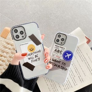 Simple Ticket label Phone Case For iphone 11 Pro Max 7 8 plus back Cover Clear Cute Silicone Capa