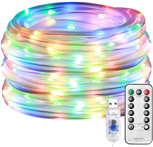 10m 100led waterproof IP67 LED string strip with 5V USB connector and 8 function remote controller for festival and wedding party decoration