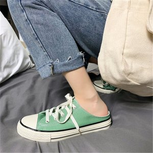 Hotsale Non-Brand Summer half slippers yellow black men's the trend of lazy shoes breathable Baotou men's shoes