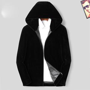20ss Marka Erkek Palto Kış Peluş Vizon ceket Fermuar Casual Pamuk Motosiklet Ceketler Topsclothing Kalınlaşmak Coats İşlemeli harfleri Isınma