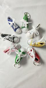 Mini canvas doll shoes key chain car bag pendant