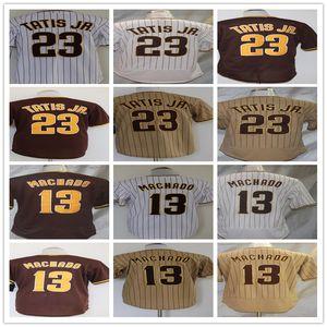 San Diego 23 Fernando Tatis Jr. 13 Manny Machado 2020 Flex Base Cool Base Baseball Jersey