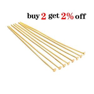 200 pz Borsa 20 25 30 40 40 50 60 mm Pins flat head Pins Gold rame Headpins per risultati dei gioielli Fare forniture fai da te f sqchhx
