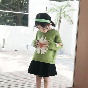 Mizah Ayı Girls Triko 2020 Yeni Çocuk Sıcak Kız Kazak Çocuk Süveter Çiçek dibe Gömlek Kız Örme Triko
