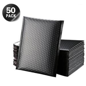 50 stücke blase umhüllung selbstsiegel schwarz foil bubble mailer für geschenk verpackung gesäumt poly mailer wedding tasche mailing umschläge1