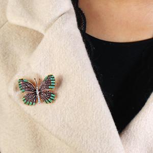 Enamel Painted Zircon Butterfly Corsage Female Corsage Luxury Pin Ornaments